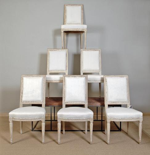 Six Elegant Louis XVI Chairs