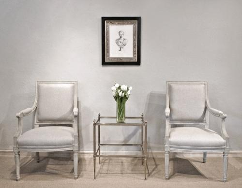 A Pair of Stylish Louis XVI Armchairs