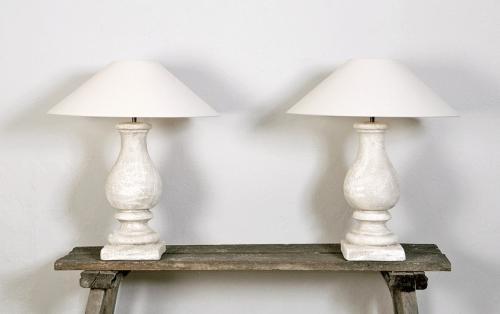Pair of Hand Made Belgian Pottery Lamps