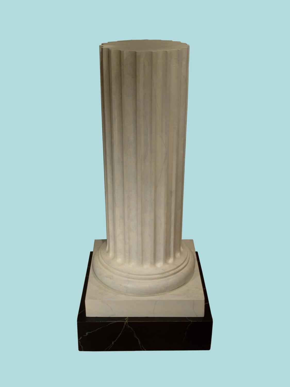 Modern Neoclassical Patinated wooden Column