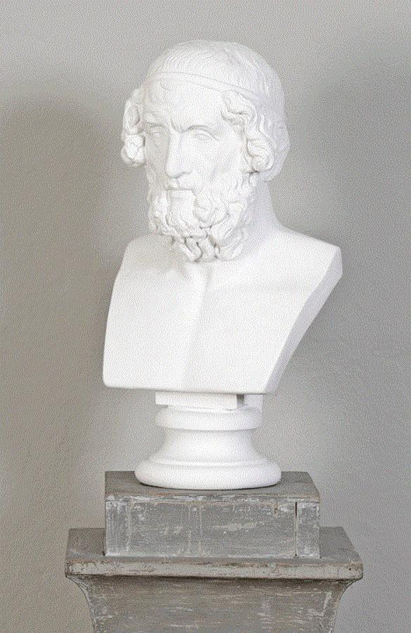 A Plaster Cast Bust of Homer