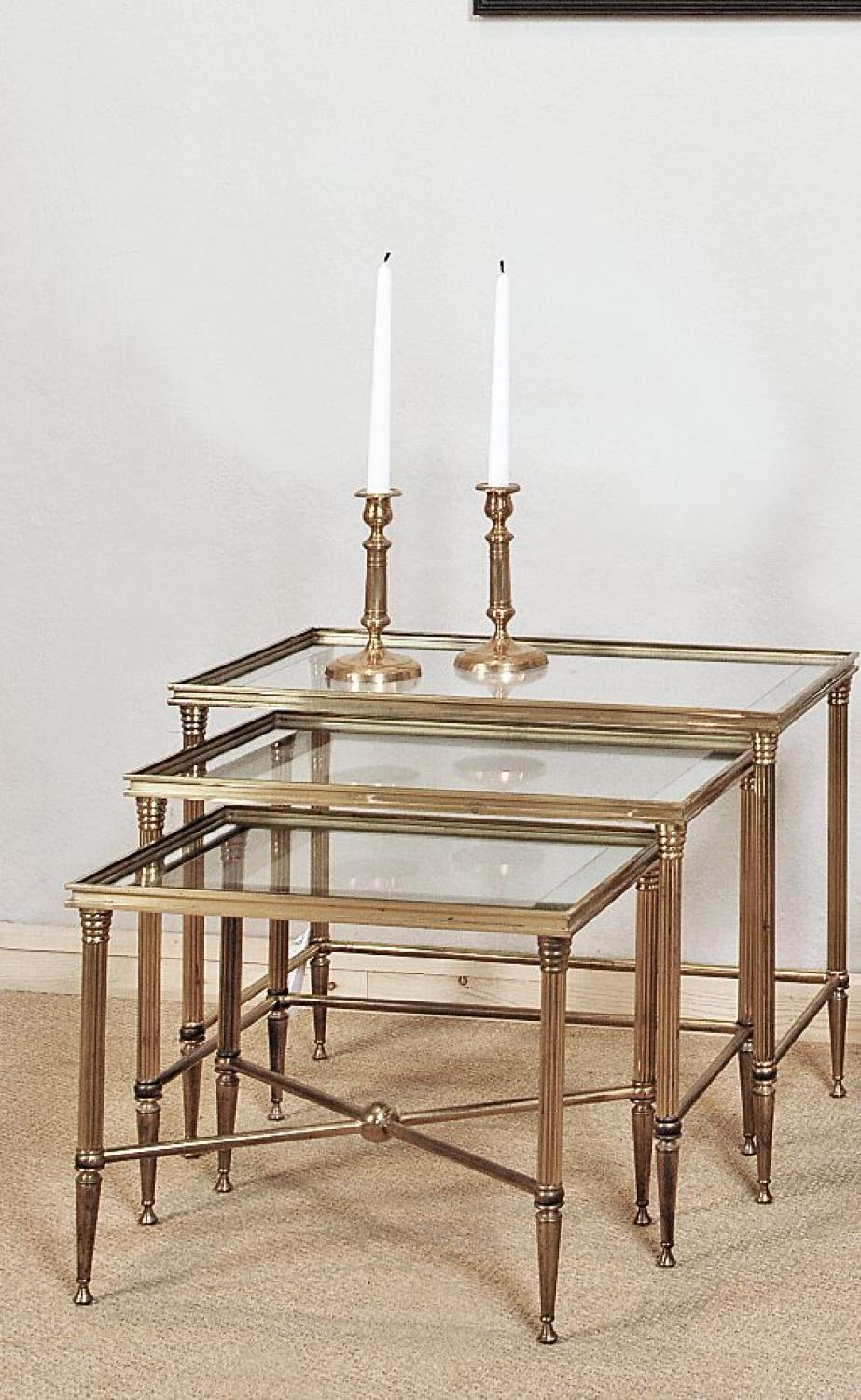Stylish Bagues´style set of Nesting Tables