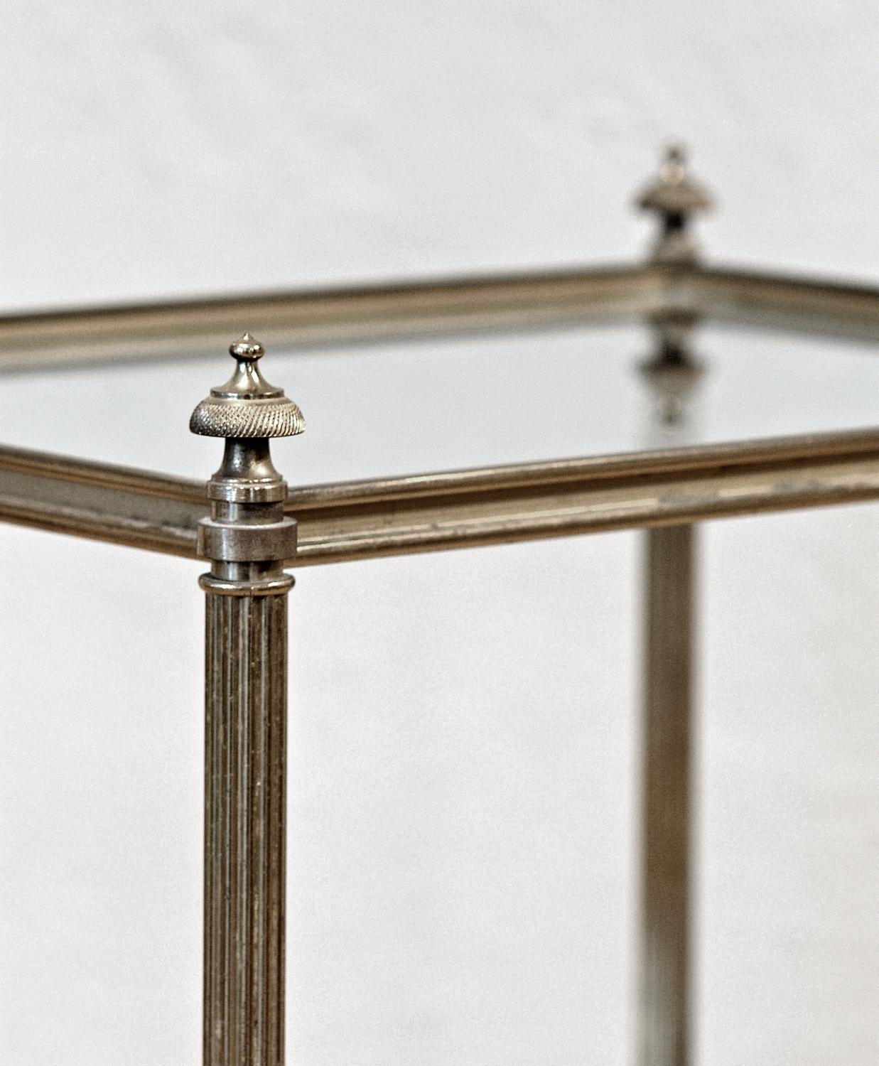 Small Brass And Glass Coffee Tables: Elegant Small Brass And Glass Table In Tables