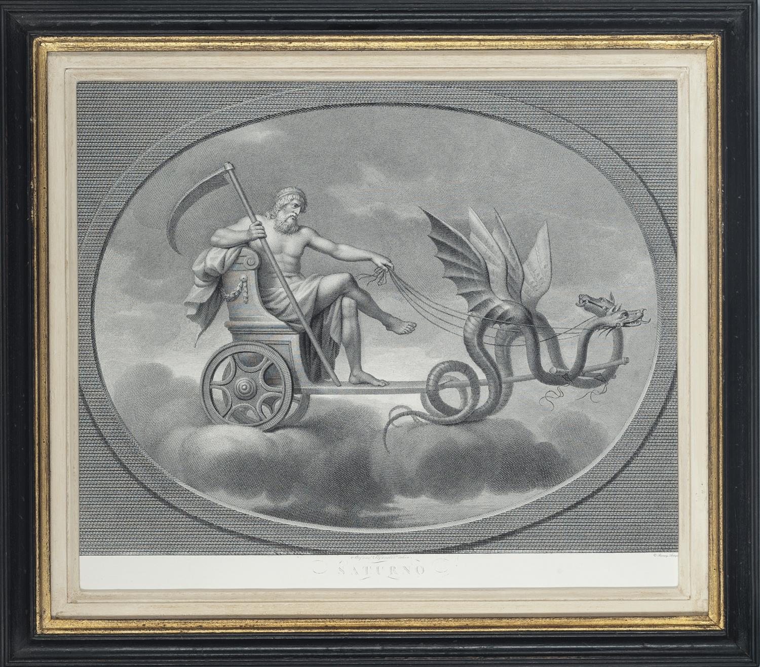 Set of Beautifully Framed Roman Gods