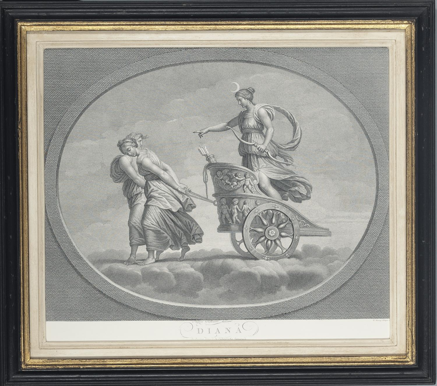 Set Of Beautifully Framed Roman Gods In Art