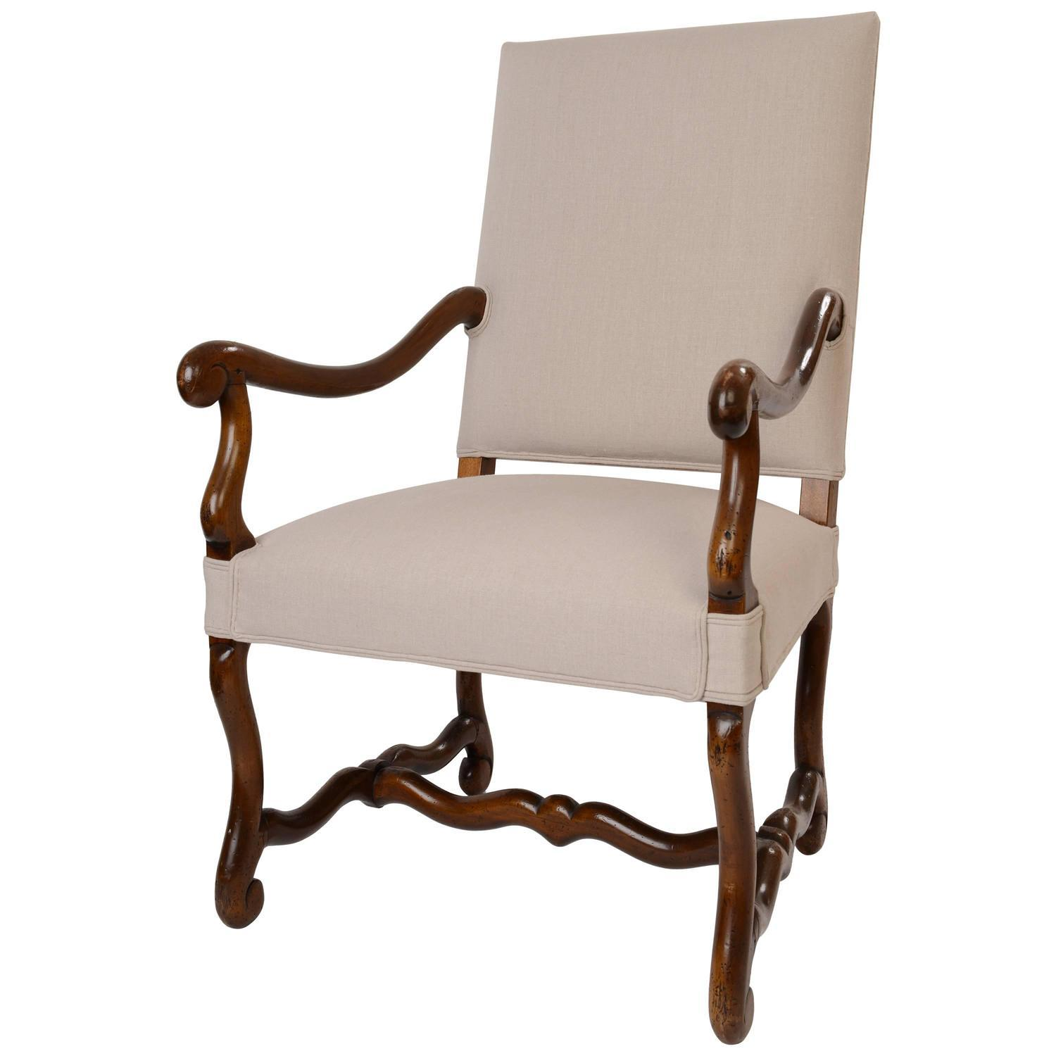 French 18th Century Os de Mouton Armchair