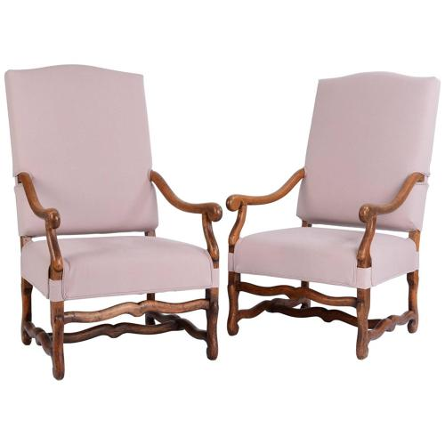 19th Century pair of Os de Mouton Armchairs