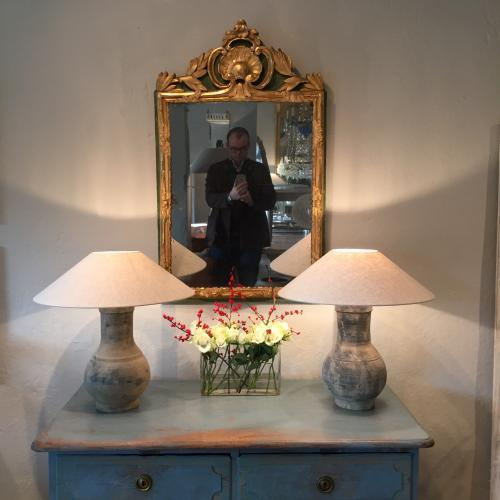 Louis XV Mirror with Mercury Glass