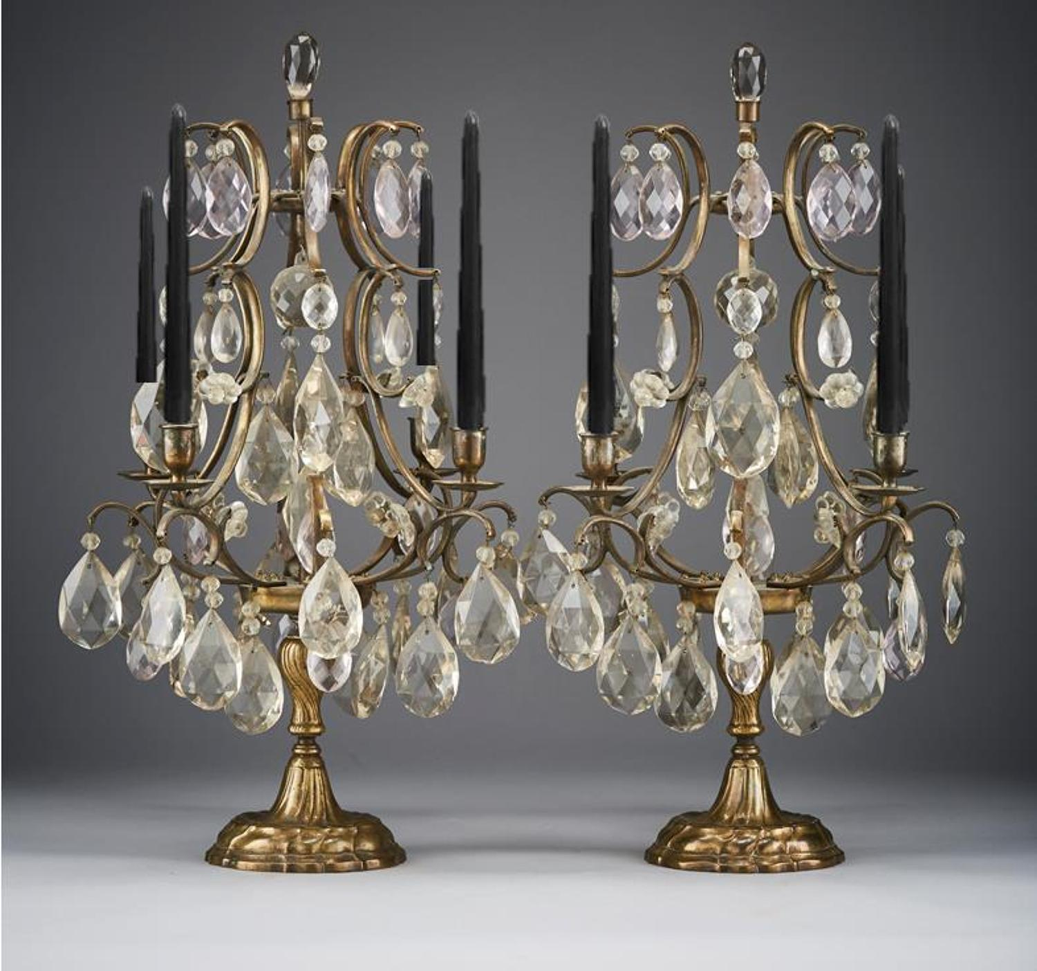 Beautiful  Pair of Swedish Baroque Girandoles