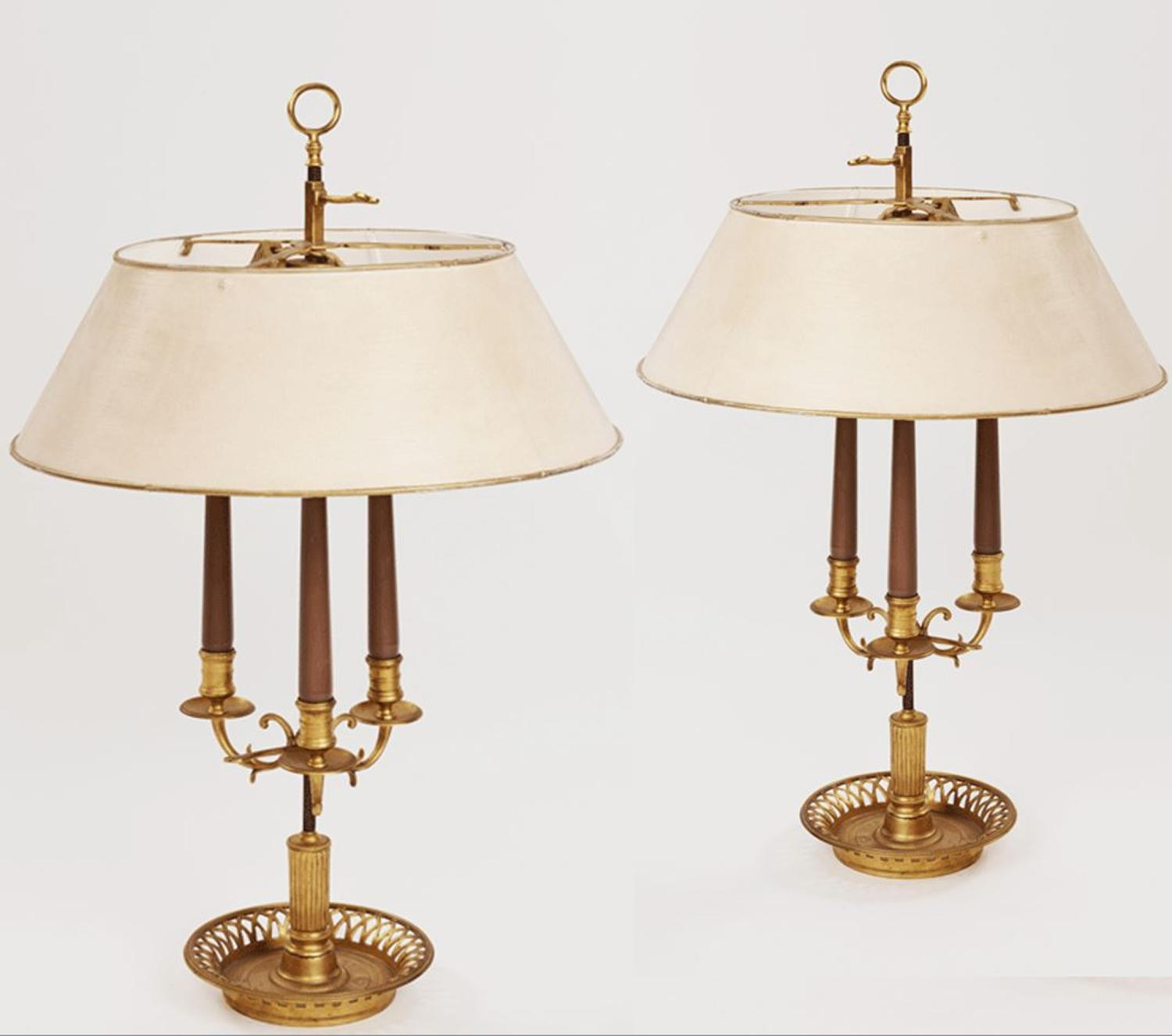 18 th century Bouilotte Lamps