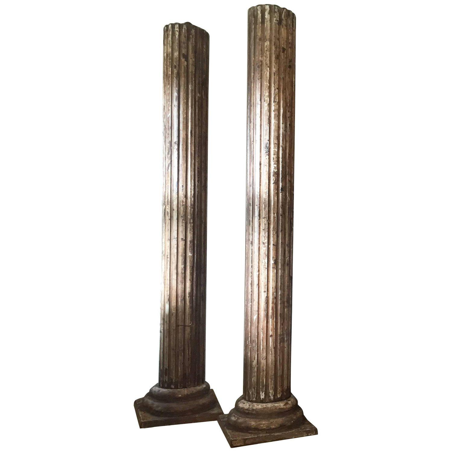 Pair of Impressive decorative Large Columns