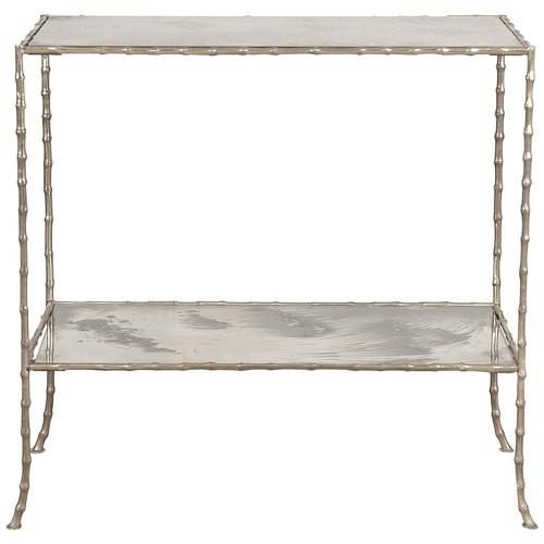 Chic! Faux Bamboo and Verre Eglomisee Table