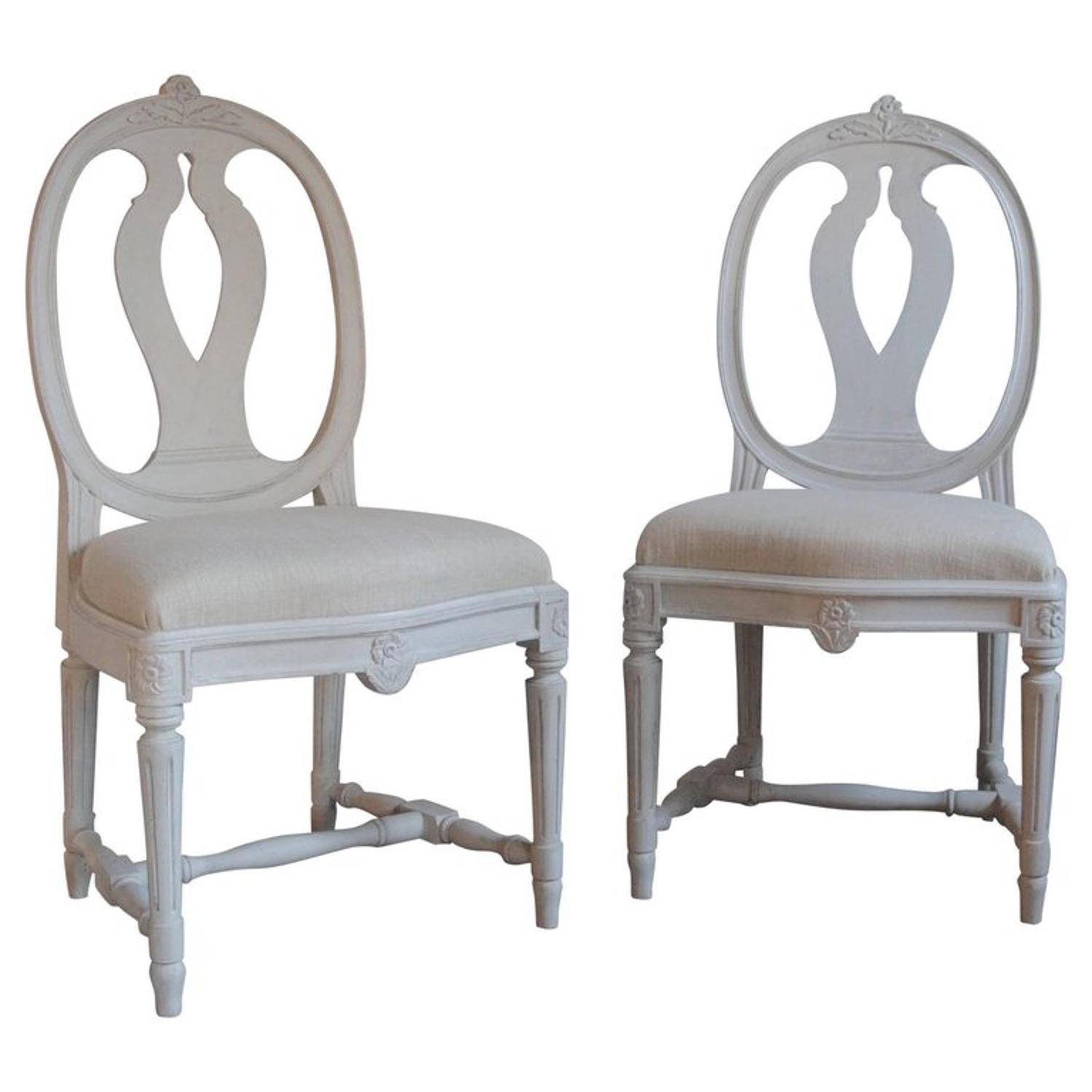 Pair of antique Gustavian style