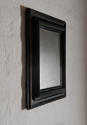 Flemish Ebonized Baroque Ripple Molded Combination Profile Mirror - picture 3