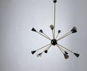 Large Stylish Italian 1950 Sputnik Chandelier in the Style of Stilnovo - picture 2