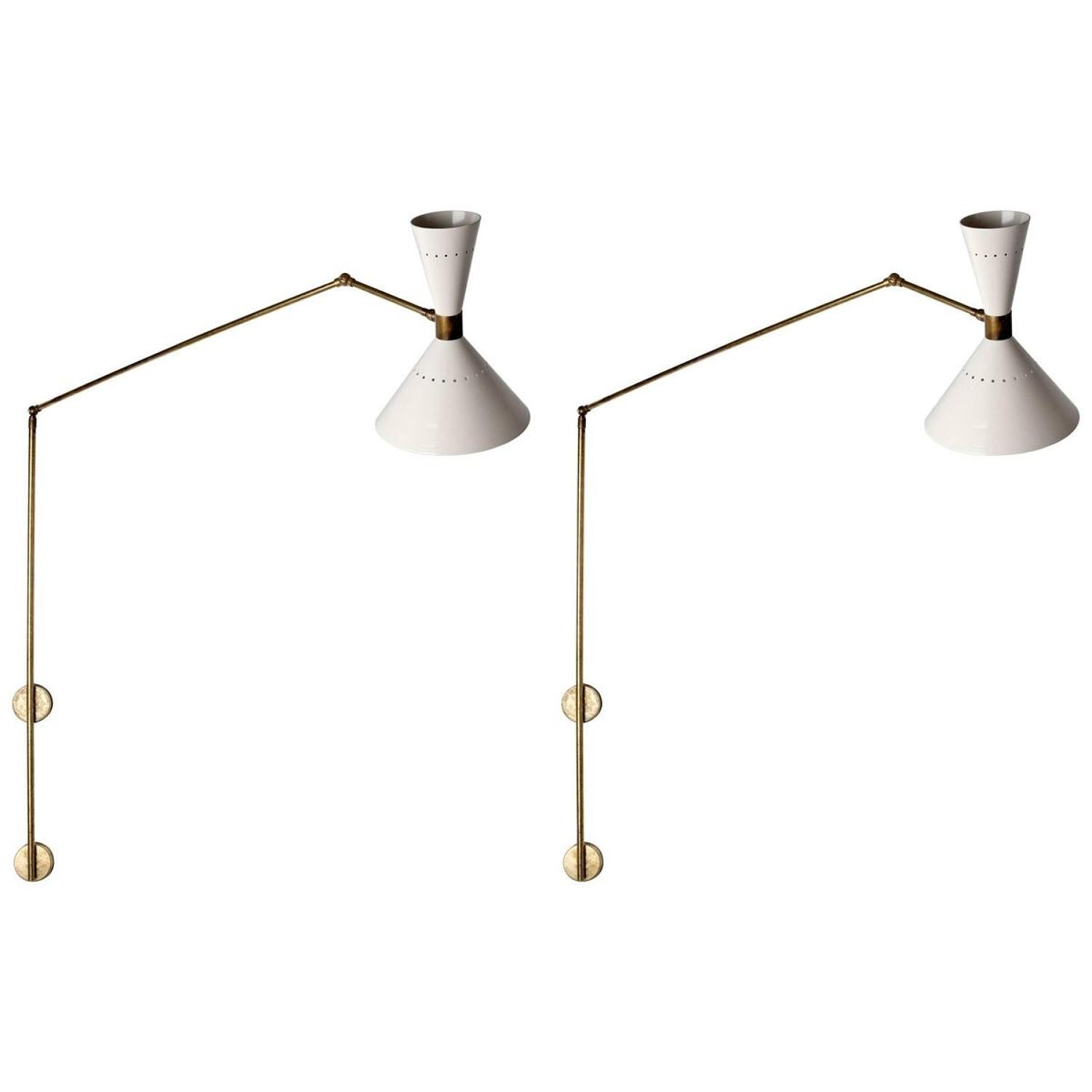 Stylish Pair of Stilnovo 1950s Italian Wall Lights