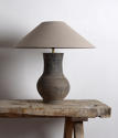 Chinese Han Lamp with Handmade Belgian Linen Shade - picture 4