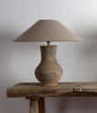 Chinese Han Lamp with Handmade Belgian Linen Shade - picture 2