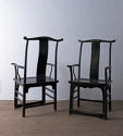 Pair of Large Chinese Late 19th Century Armchairs - picture 2