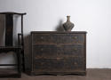 Late Gustavian chest in black paint - picture 2