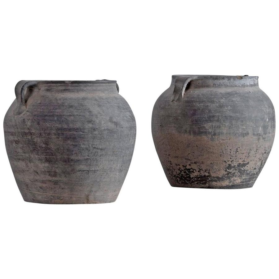 Set of Chinese Han Dynasty Style Unglazed Pots