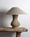 Near Pair of Chinese Han Lamps with Handmade Belgian Linen Shades - picture 3