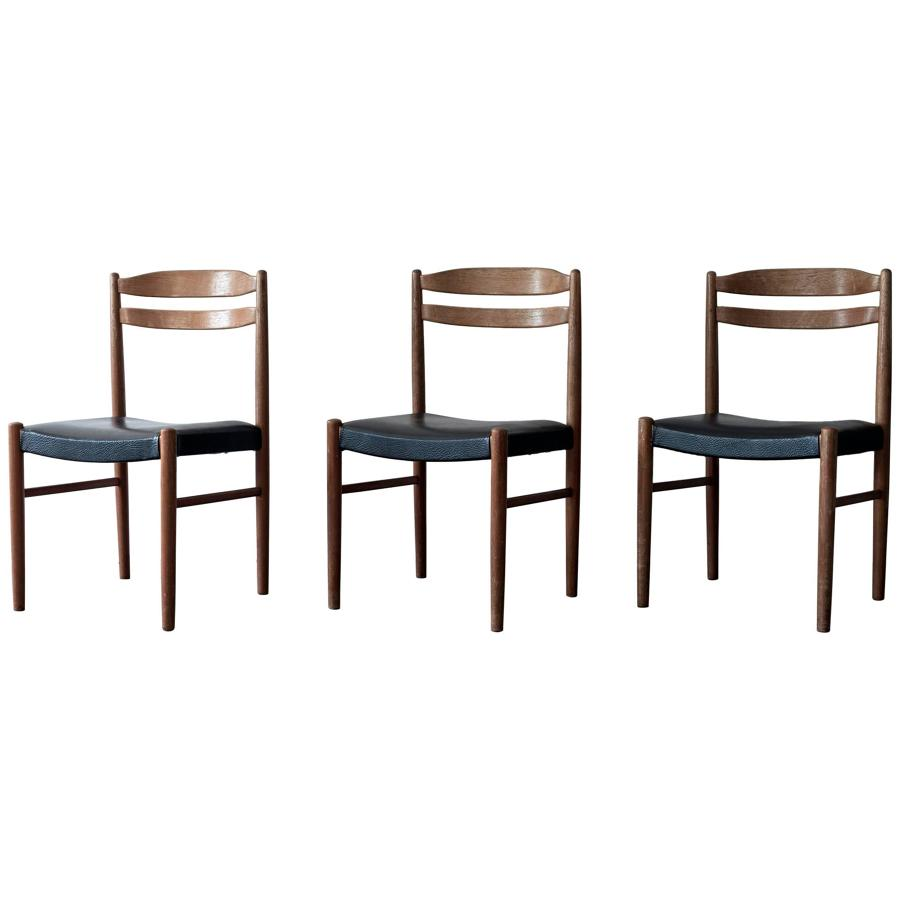 Set of three Swedish chairs by Carl Ekström for Albin Johansson & Sö