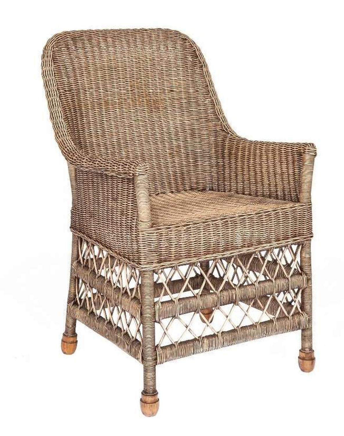 Classic Belgian Pearls Collection Garden Wicker Seating by Defleure