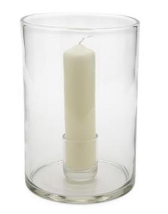 Mouth blown elegant hurricane lamps
